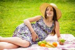 La belle femme enceinte Photo libre de droits