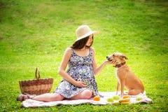 La belle femme enceinte Photos stock