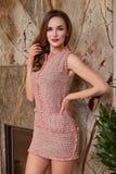 La belle femme sexy dans les affaires vêtx la collection d'été Image libre de droits