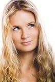 La belle femme sourit Image stock