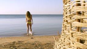 La belle femme va à la mer HD clips vidéos