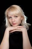 La belle fille avec programmes Image stock