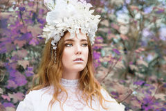 La belle fille de redhair aiment la princesse Photos libres de droits