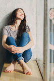 La belle fille rêve Images libres de droits