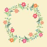 La belle fleur a décoré le cadre Photos stock