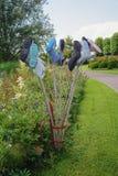 La belle idée de jardin dans le modèle fait du jardinage Appeltern, Nederland Photos stock
