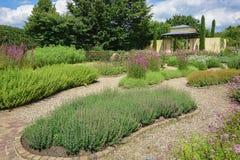 La belle idée de jardin dans le modèle fait du jardinage Appeltern, Nederland Photographie stock libre de droits