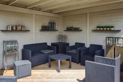 La belle idée de jardin dans le modèle fait du jardinage Appeltern, Nederland Photo libre de droits