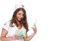 La belle infirmière Photographie stock libre de droits