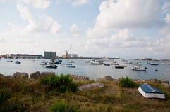 La belle marina de la ville de la marina de vibo en Calabre photographie stock libre de droits