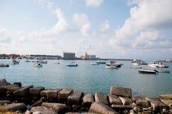 La belle marina de la ville de la marina de vibo en Calabre photos libres de droits