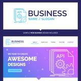 La belle marque api, appli, codage de concept d'affaires, se développent illustration stock