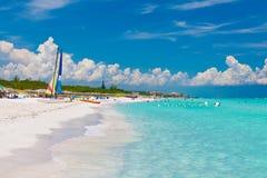 La belle plage cubaine de Varadero photo stock