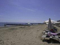 La belle plage de Jesolo en Vénétie Images libres de droits