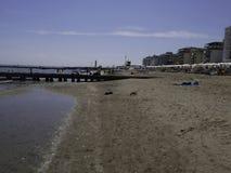 La belle plage de Jesolo en Vénétie Photographie stock libre de droits