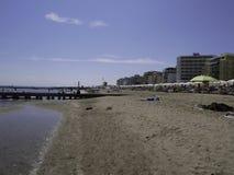 La belle plage de Jesolo en Vénétie Image libre de droits