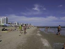 La belle plage de Jesolo en Vénétie Photos stock