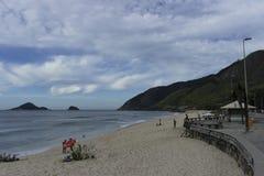 La belle plage de Rio de Janeiro images libres de droits