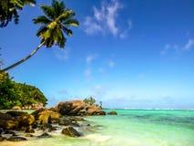 La belle plage des Seychelles aiment un rêve ! photos libres de droits