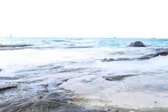 La belle plage pour le foyer mou avec le ƒ mou de ¹ de ciel et de blurà Photographie stock