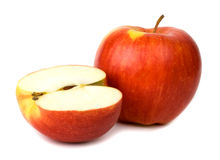 La belle pomme sur un fond blanc Image stock