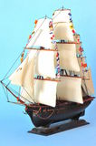 La Belle Poule - model sails ship Royalty Free Stock Photography