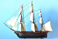 La Belle Poule - sails ship model Stock Photography