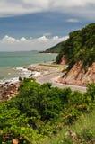 La belle route dans Chantaburi Thaïlande Photographie stock