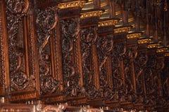 La belle sculpture sur bois Photo libre de droits