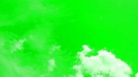 La belle temps-faute opacifie sur un fond de ciel bleu reproduit avec le chromakey banque de vidéos