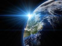 La belle terre dans l'espace image stock
