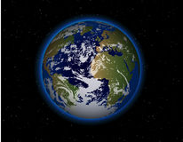 La belle terre de planète Image libre de droits