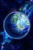 La belle terre est dans l'espace image stock