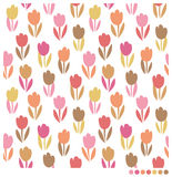 La belle tulipe fleurit le fond sans couture Photos libres de droits