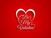 La belle typographie du texte soit mon Valentine sur le Re Image libre de droits