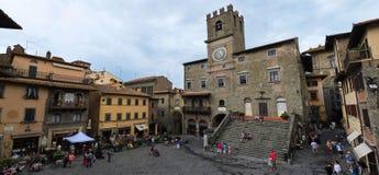 La belle ville de Cortona en Toscane photographie stock libre de droits