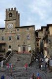 La belle ville de Cortona en Toscane photo libre de droits