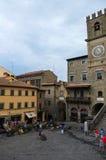 La belle ville de Cortona en Toscane images libres de droits