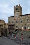 La belle ville de Cortona en Toscane photos libres de droits