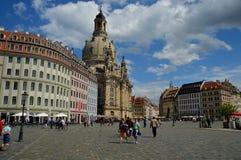 La belle ville de Dresde, une ville riche en art et monuments photographie stock libre de droits