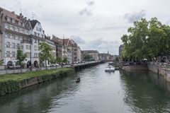 La belle ville de Strasbourg Images libres de droits