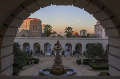 La belle ville hôtel de Pasadena près de Los Angeles, la Californie Images libres de droits