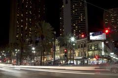 La belle ville la Nouvelle-Orléans la nuit photos stock