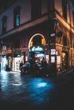 La belle ville rouge de Bologna image stock