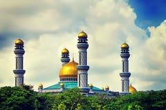 La belle vue de Jame Asr Hassanil Bolkiah Mosque avec Gree images libres de droits