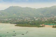 La belle vue de Khao-Khad regarde la tour, touristes peut apprécier le Th Image stock