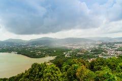La belle vue de Khao-Khad regarde la tour, touristes peut apprécier le Th Images libres de droits