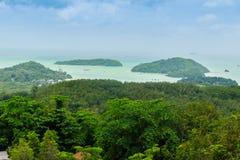 La belle vue de Khao-Khad regarde la tour, touristes peut apprécier le Th Photo libre de droits