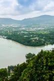 La belle vue de Khao-Khad regarde la tour, touristes peut apprécier le Th Photos stock