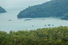 La belle vue de Khao-Khad regarde la tour, touristes peut apprécier le Th Photo stock